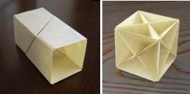 座屈四角柱と立方体の骨