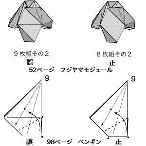 『本格折り紙』図のミス