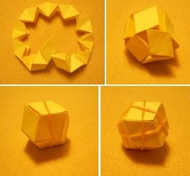 「とぐろ巻・菱形十二面体」