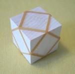 輪ゴム留め立方体