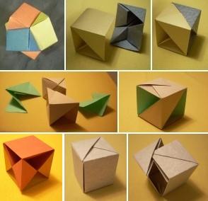 紙のサイコロ遊び