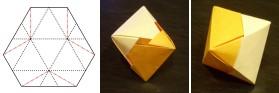 二枚組・六角断面正八面体
