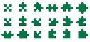 ジグソーパズルパターン