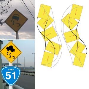 道路標識「すべりやすい」