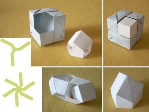 六角柱と立方体