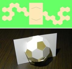 平面で切断されたサッカーボール