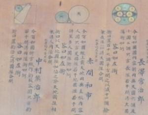 黒岩虚空蔵堂の算額(部分)