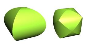交差する円柱の共通部分