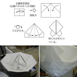 電波望遠鏡の折り紙