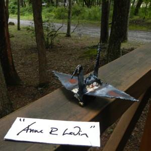 鋼鉄の折り鶴