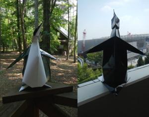 たたずむペンギン(折り紙)