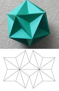 大十二面体外殻の6ペスター組み