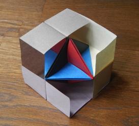 立方体に内接する正八面体