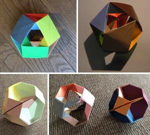 直行座標ユニット折り紙