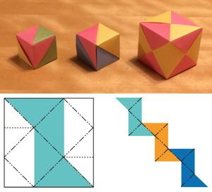 3,4,8枚組み立方体