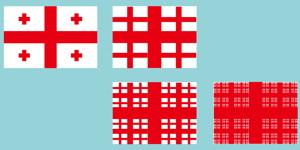 Fractal Georgia Flag