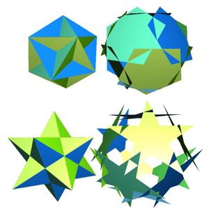 大十二面体と小星型十二面体