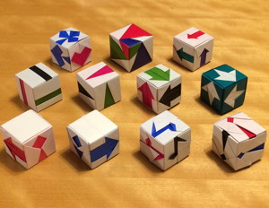 三枚組の立方体