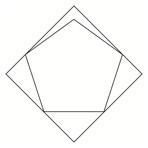 正方形に内接する最大の正五角形
