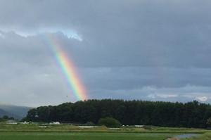 八ヶ岳山麓の虹