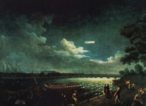 『Hally's Comet in 1759』(Samuel Scott)