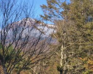 八ヶ岳の冠雪