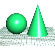 球と同じ表面積の円錐
